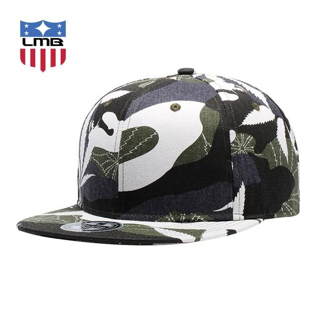 50ce36d0befca LMB Camo Camouflage Weed Printing Cap For Men s Hip Hop Caps Plain Brim  Unisex Casual Adjustable Snapback Outdoors Women Hats
