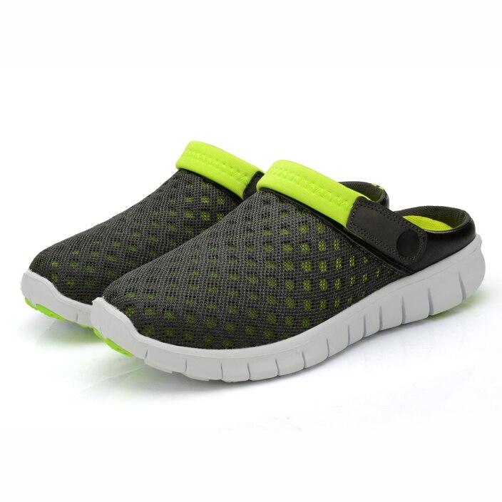 Men sandals Breathable Hollow Out Flip Flops mesh Trend summer outside lazy men flat hombre