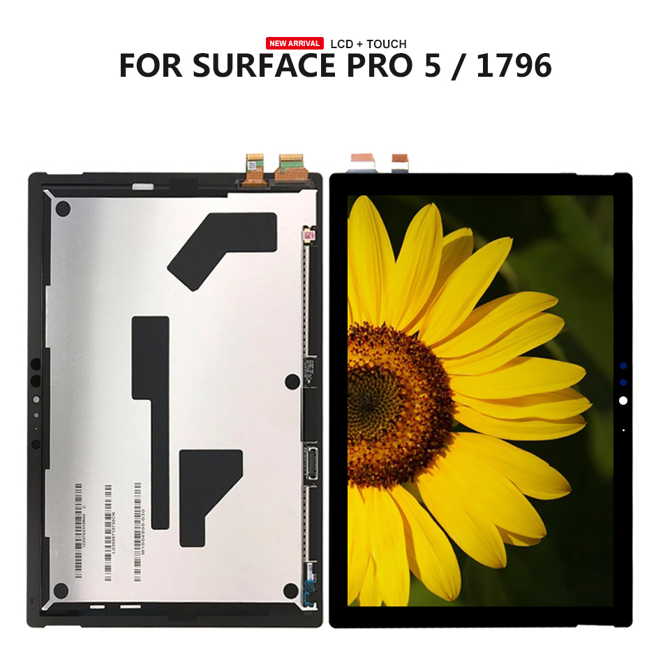 For Microsoft Surface Pro 5 1796 LP123WQ1(SP)(A2) / Pro 6 1807 LCD Display Touch Screen Glass Sensor Digitizer Assembly