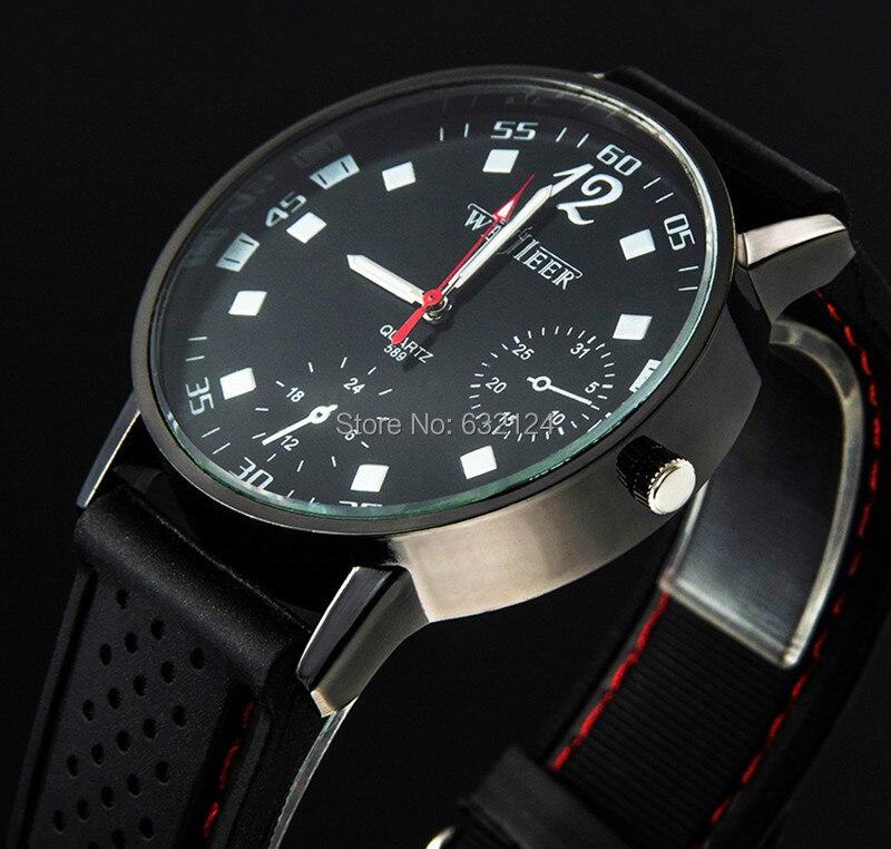 Kraftvoll Männer Sportuhr Militär Quarz Mode Lässig Uhren Neue Populäre Armee Stil Silikon Outdoor Armbanduhr Großhandel Uhren Quarz-uhren
