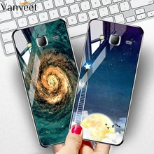 Tempered Glass Case For Samsung Galaxy J2 Prime J4 J6 2018 J7 2017 Case Cover For Samsung A50 A30s A20 A30 Silicone Bumper Shell(China)
