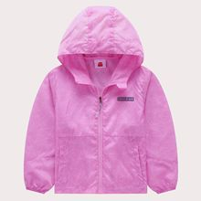 Summer Waterproof Quick-Drying Child Coat Anti-UV Breathable Boys Girls Thin Jackets Hooded Kids Outfits For 98-152cm