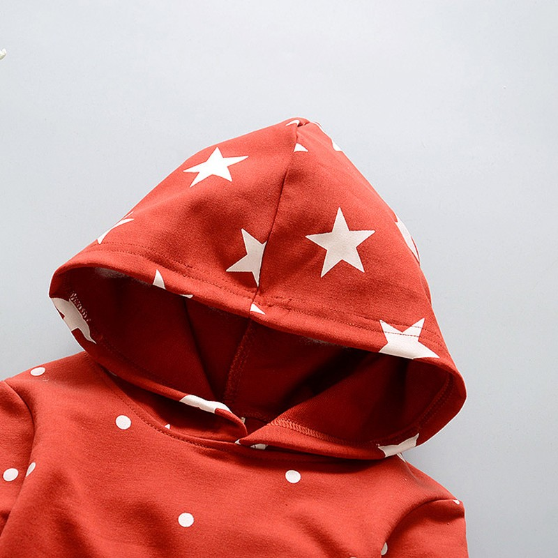 New Baby Sets Star Cotton Suits 2016 Infant Outerwear Spring Autumn Boys Clothes Pants Hooded Suit Hot Dot Tops Baby Clothing (1)