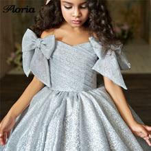 Коллекция года, платья с блестками и цветочным узором для девочек бальное платье, пышные платья для свадьбы, платья для первого причастия для девочек, vestidos daminha