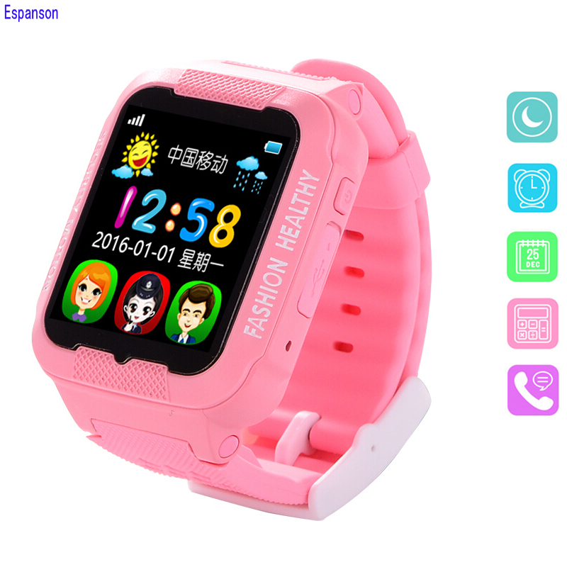 Espanson Children Smart Watch With GPS Camera Facebook Emergency Security Anti Lost SOS For ISO Android waterproof baby Watch Q3 espanson children security anti lost smart watch gps tracker with camera kid sos emergency for ios android waterproof baby watch