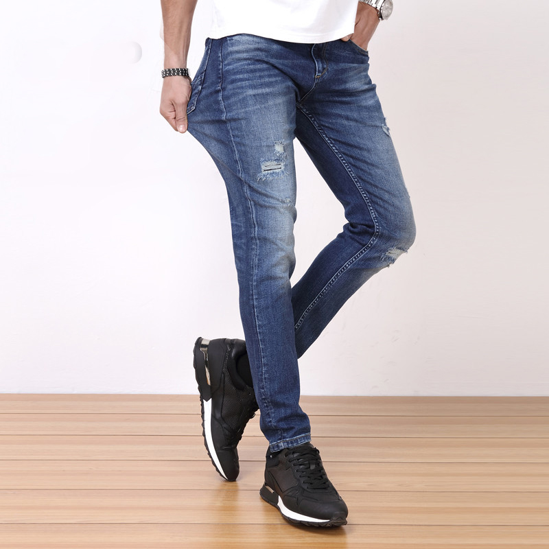 ФОТО Brand Mens Jeans Blue Denim Jean Size 28 to 36 Designer Slim Fit Stretch Jeans Good Pants Trousers For Men