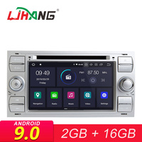 LJHANG Android 9.0 Car DVD Player For FORD Mondeo/Focus/Transit/C MAX/S MAX/Fiesta GPS Navi 2 Din Car Radio Stereo Multimedia