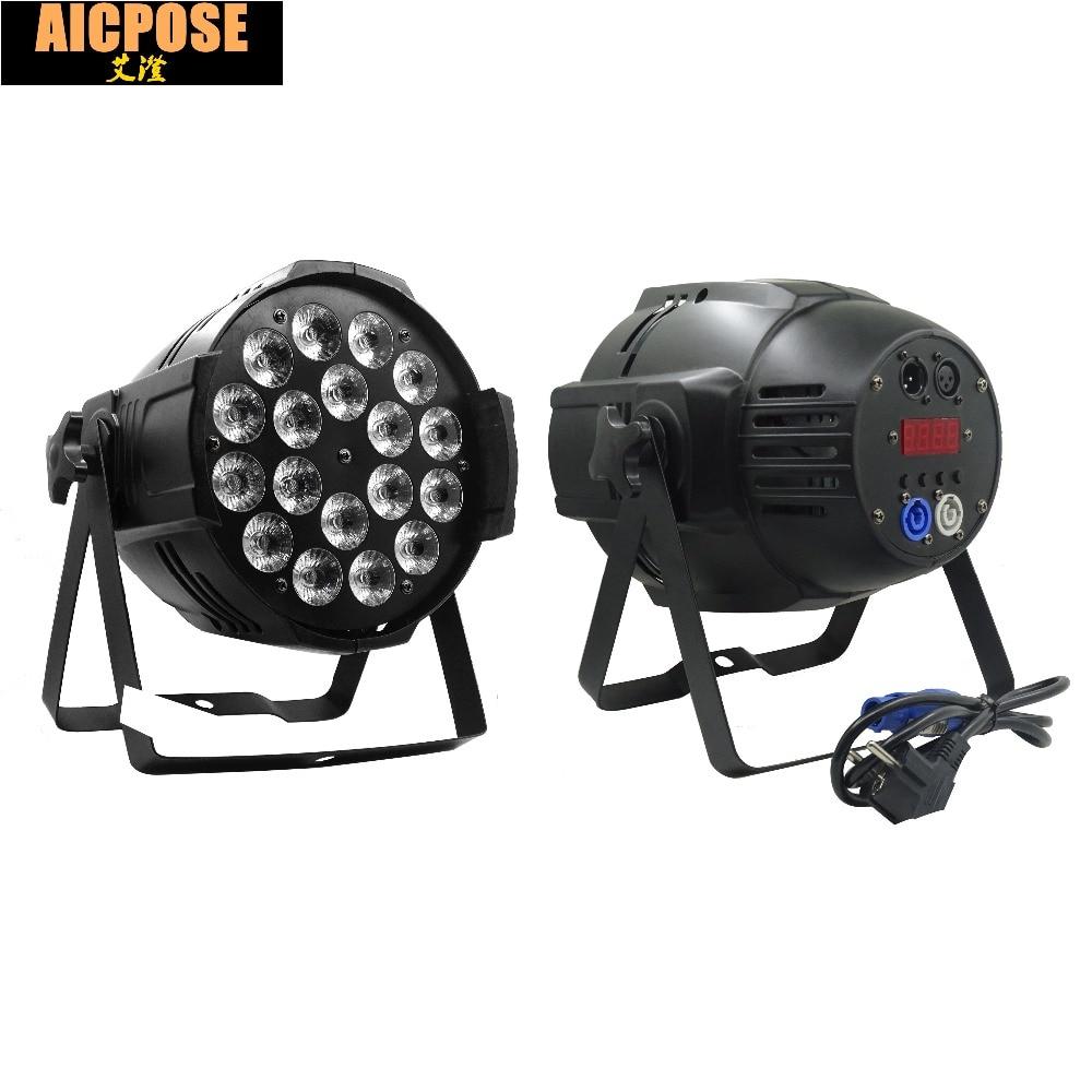 Stage Light Aluminum LED Par 18x18W RGBWA UV 6in1 LED Par Can Par 64 Wall wash Led par lighting UV par yuasa yb4l b