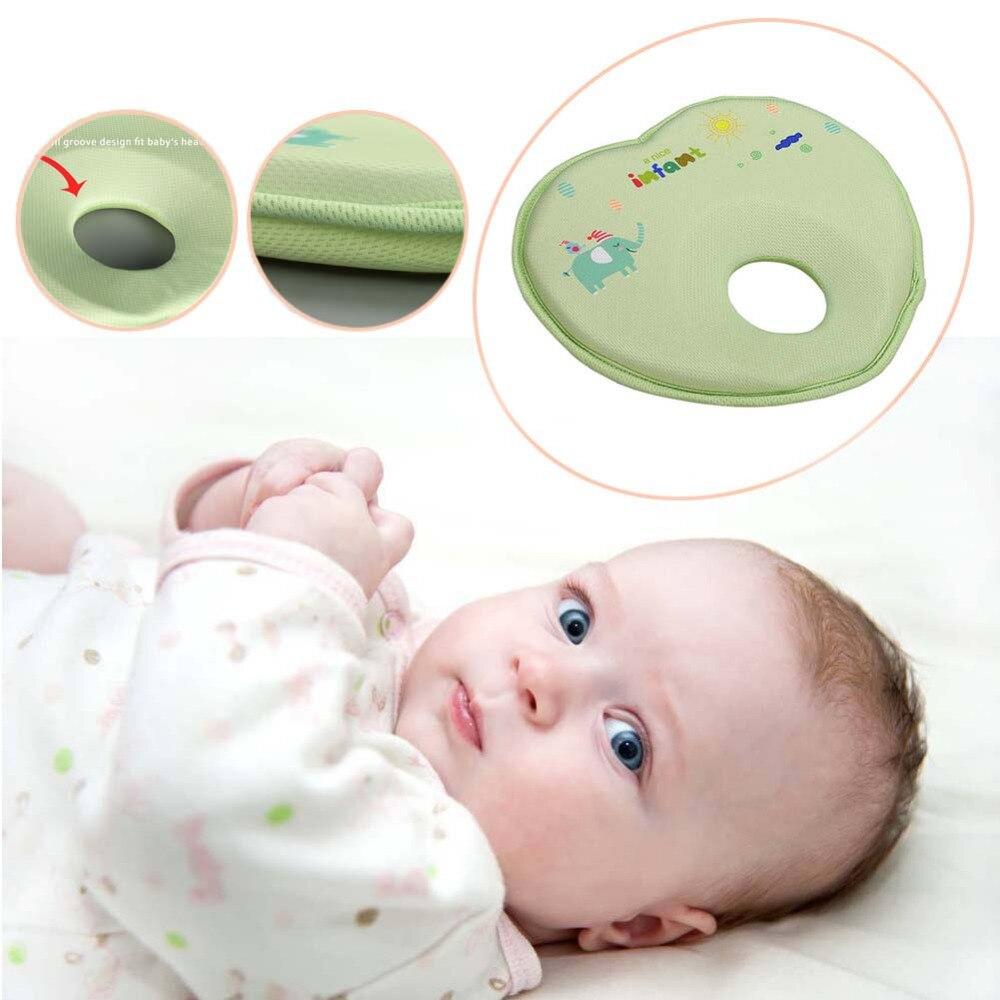 0-24 M Neugeborenen Baby Gestaltung Kissen Schlafen Stellungs Anti Roll Kissen Pad Flache Kopf Schutz Kissen