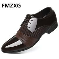 FMZXG Big Size 6 5 12 New Fashion Men Wedding Dress Shoes Black Shoes Business High