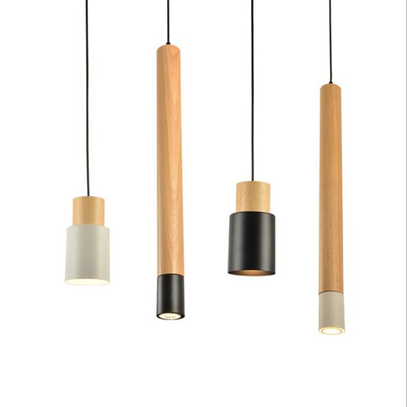 Japanese Style Solid Wood Pendant Lights Nordic Creative Lights for Living Room Bedroom Restaurant Bar Dectration Light japanese style solid wood bar simple led nordic pendant lights a1 log restaurant lights creative personality round wood za