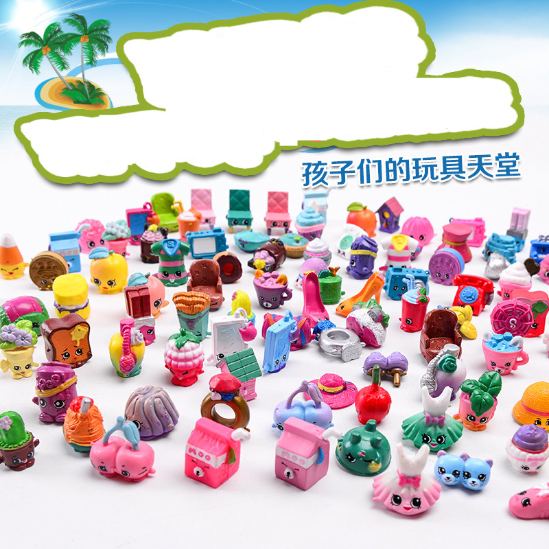 100 piece/lot Figures for Toys Fruit Dolls Shop Family Kins Action Figures For Shopkin Little Figurines Mixed Season
