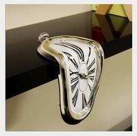 Creative seated twisted clock Melted clock table corner clock Roman numerals right angle retro