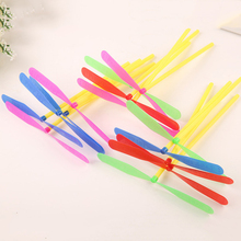10 Pcs Plastic Bamboo Dragonfly Propeller Kids Toy Outdoor Flying Toys for Children Classic Gift