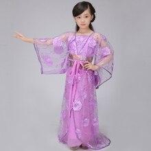 Chino de la Danza Popular Chino Tradicional Ropa Niños Princesa de La Dinastía Tang Hanfu Traje de la Danza para Niñas