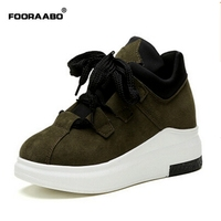 Fooraabo Brand Spring Autumn Platform Sneakers Shoes For Women Comfortable Breathable Casual Shoes Women 2017 Tenis
