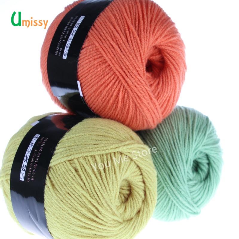 1pc Yarn For Knitting Cotton Fiber Crochet Yarn Soft Skin-friendly Yarn 50g/pc Retail