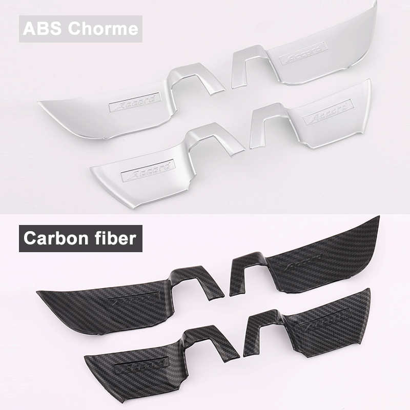 Image 4 - ABS Chrome Car styling Inner Door Handle Bowl Cover Trim Stickers Interior Moulding For Honda Accord 10th 2018 Accessories-in Interior Mouldings from Automobiles & Motorcycles