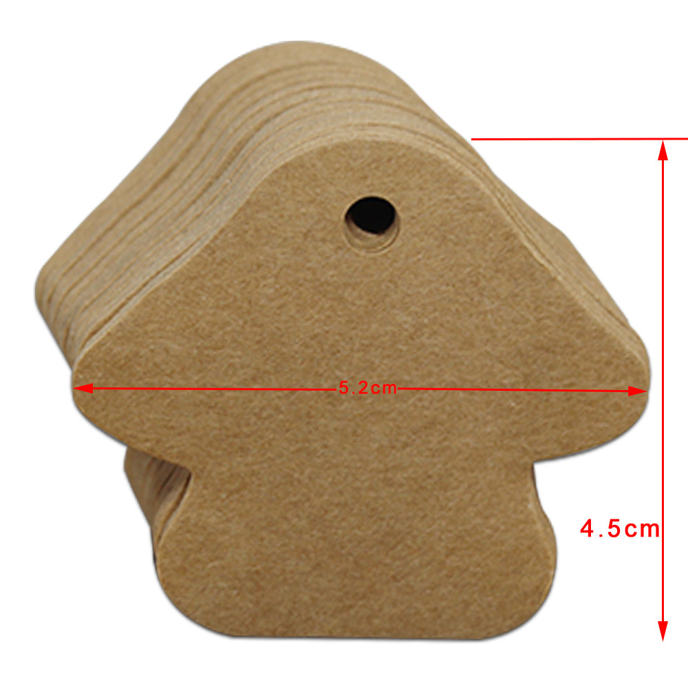 DHL 5.2*4.5cm Mushroom Blank Kraft Paper Gift Tags Wedding Party Decoration Greeting Cards Luggage Marks Hang Tag Craft Label
