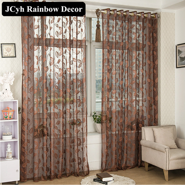 Hohe Qualität Blatt Gardinen Für Schlafzimmer Bestickt Fenster