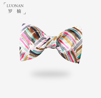 Bow Tie Men S Color Oil Painting Brush Personality Fashion Original Printing Retro British England Bow