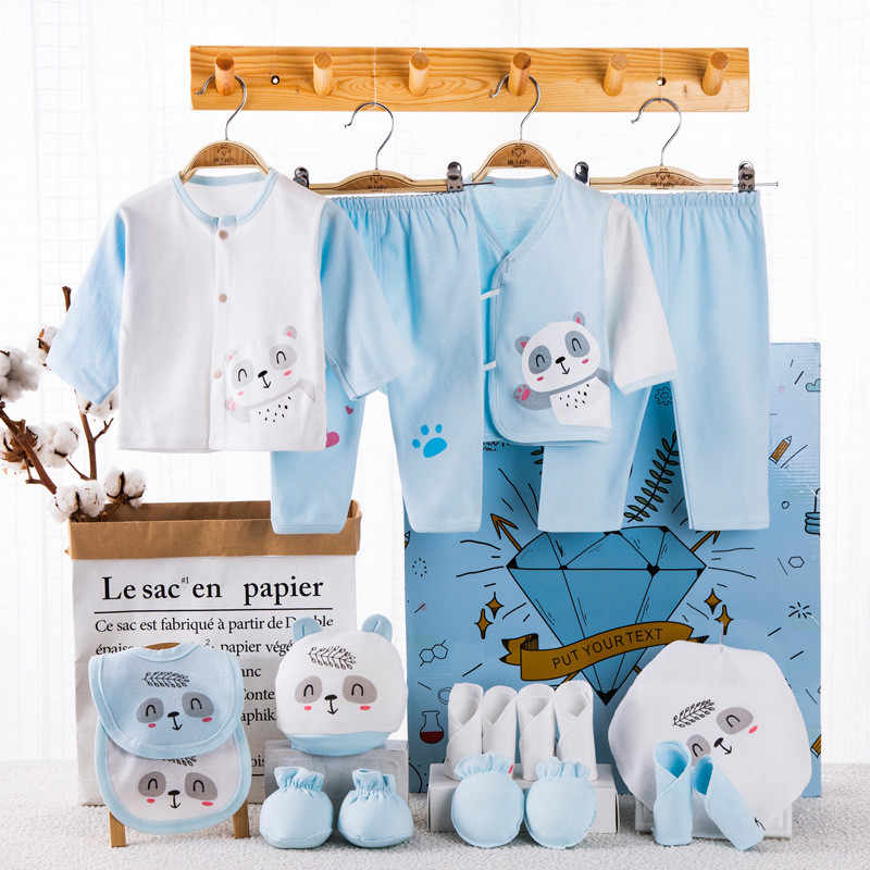 18 יחידות\חבילה יילוד תינוקת בגדי 100% כותנה תינוק תינוקת קיץ בגדים רך תינוק בני בגדי יילוד כובע ליקוק