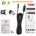 2 EM 1 7 MM USB Endoscópio 0.3MP Android Mini Câmera Endoscópio USB Tubo de Esgoto Câmera de Inspeção de Carro 1 M/1.5 M/2 M/3.5 M/5 M/10 M Cabo