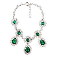 Birthday Gift Jewelry Elegant Crystal Round Moonstone Fashion Necklace