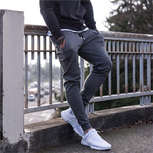 New sportswear fitness Pants Casual Quality Mens Fitness Workout skinny Sweatpants Trousers Jogger Solid Breathable