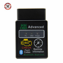 2018 новый дизайн HH OBD расширенный мини ELM327 v2.1 черный Bluetooth OBD2 автомобильный CAN беспроводной адаптер сканер инструмент