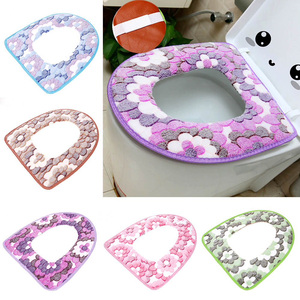 Toilet Lid Covers Pull Draw Strings Bathroom Mats And Toilet - Burgundy toilet seat cover