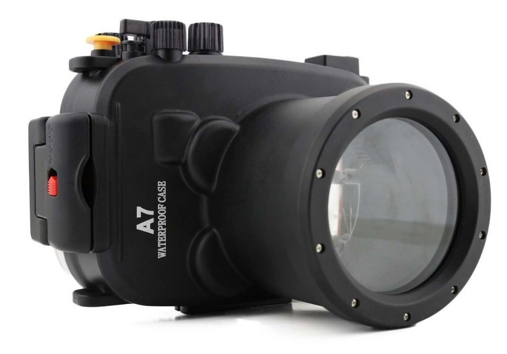 Meikon Waterproof Underwater Housing Camera bag Diving Case for Sony A7 A7 A7r A7s 28 70mm