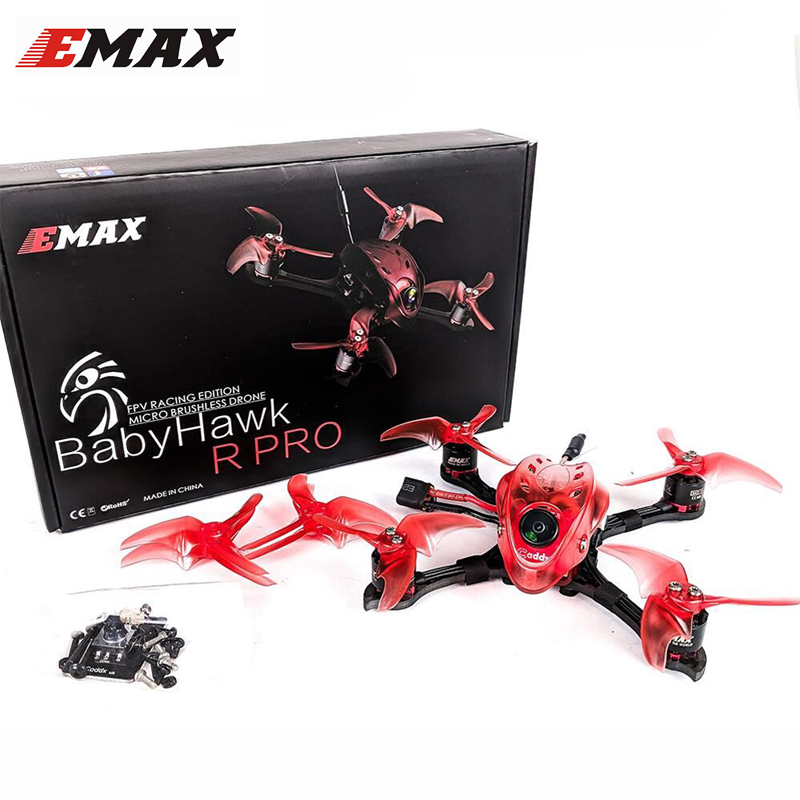 Emax Babyhawk R Pro 2.5 Inch 120mm FPV Racing RC Drone Quadcopter PNP / BNF F4 Flight Controller F25A Blheli_32 Smart Audio VTX original emax babyhawk 85mm micro brushless fpv racing drone pnp version white