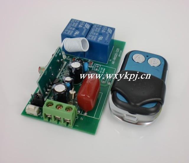 AC 220V 2CH  RF Wireless Remote Control System Transmitter & Receiver 315MHZ/433MHZ Learning Code Remote Control Manufacturer