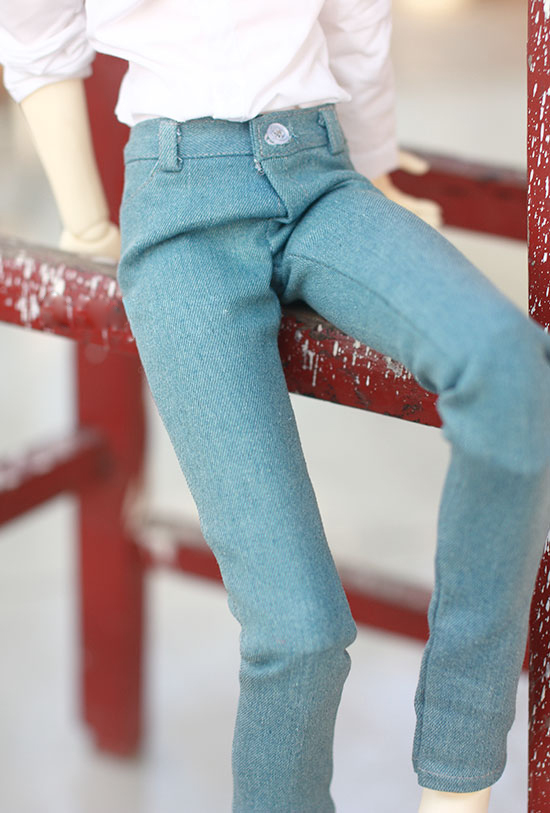 Blyth doll pant ligth blue vintage jeans for 1/3 1/4 BJD SD DD MSD SD17 Uncle doll size doll clothes accessories fashion red white turtleneck sweater for bjd 1 3 sd17 uncle doll clothes accessories