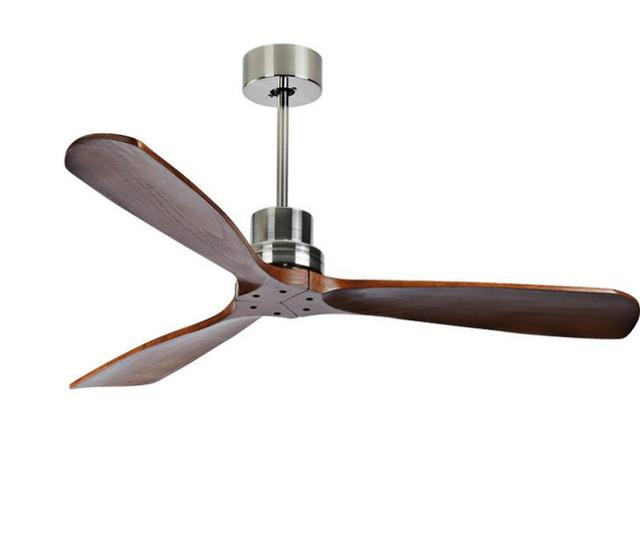 American Vintage Ceiling Fan Without Light Wooden Fans With Remote Control Nordic Simple Home Fining Room