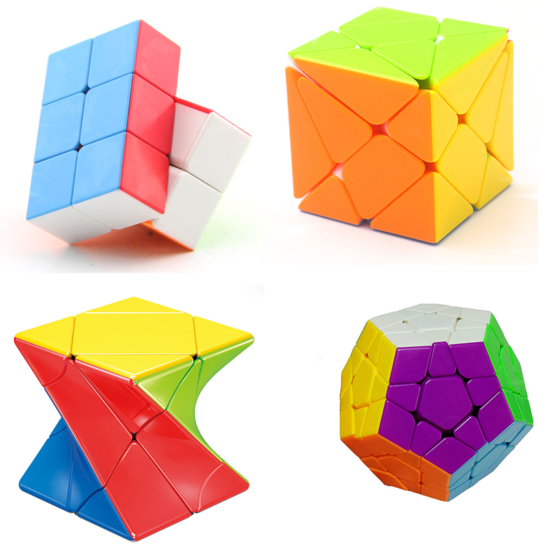 New Product Color Cube Deformed Three-step Oblique Child Adult Puzzle Parent-child Toy Color Twist Smooth Spell Graphic Cube