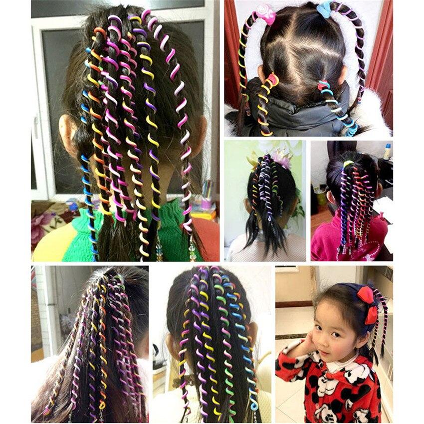 2018 Лидер продаж 6 шт./компл. дети бигуди для волос косу волосы Стикеры для маленьких девочек Декор волос инструменты #0418