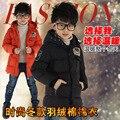 2016 niños Otoño Invierno Moda y Casual Chaquetas de Manga Larga Abrigos niños Ropa