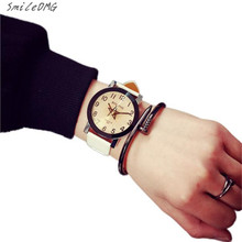 SmileOMG Hot Marketing Lovers Watch Women Men Leather Strap Quartz Analog Wrist Watch Watches Free Shiping Christmas Gift,Aug 31