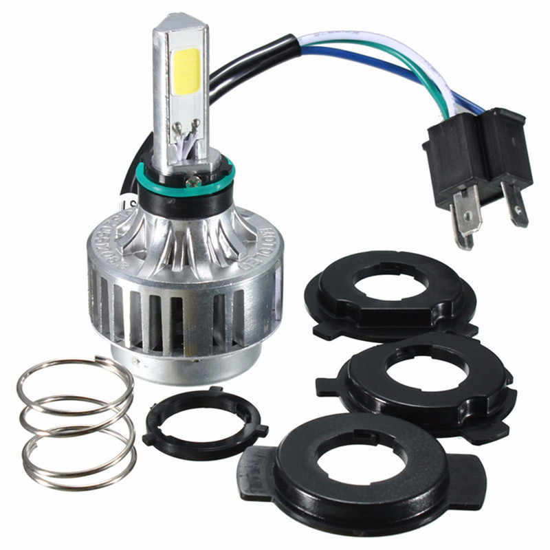 32W 3000LM COB LED LO/HI Beam H4 Motorcycle Headlight Headlamp 6000K-6500K High/Low Conversion Kit Front Light Bulb Lamp