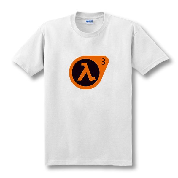 2017 New T-Shirt Half Life 3 O-Neck Ea Tee Shirts High Quality Custom Printed Tops Hipster Tees T-Shirt