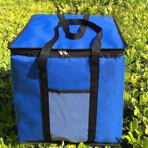 Image 3 - 14 بوصة كبيرة الحرارية حقيبة لتوصيل البيتزا سميكة حقيبة للحفاظ على البرودة معزول البيتزا حقيبة التخزين الطازجة الغذاء تسليم الحاويات 45x45x40 سنتيمتر