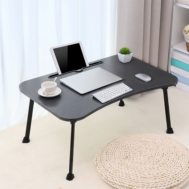 Large Bed Tray Foldable Portable Multifunction Laptop Desk Lazy Laptop Table Computer Desk   Folding Lazy Laptop Desk.