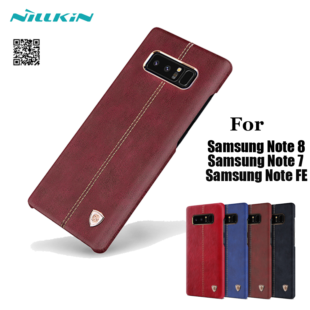 For Samsung Galaxy Note 7 8 FE Case Original Nillkin Englon Leather Cases For Samsung Note FE Dual Sim Phone Back Cover V