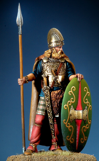 Resin Kits 1/32 54mm Celt Warrior, III-II century B.C. 54mm Unpainted Kit Resin Model Free Shipping