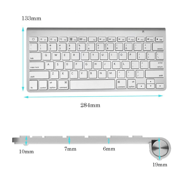 High Quality Ultra-Slim Bluetooth Keyboard Mute Tablets and Smartphones For Apple Wireless Keyboard Style IOS Android Windows 1