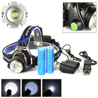 AIMIHUO 20000LM CREE XM L T6 LED POWER Headlamp Headlight 2PCS Charger 2PCS Battery