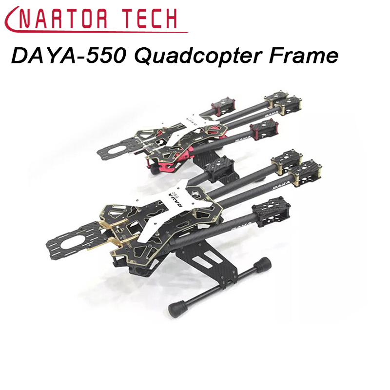 DAYA-550 550mm Folding 4 Axis FPV Quadcopter Frame Kit Black Red Color Free Shipping for yamaha yzf r3 r25 mt 03 2014 2015 2016 motorcycle rearset rear set replacement base mounting bracket plate cnc machined
