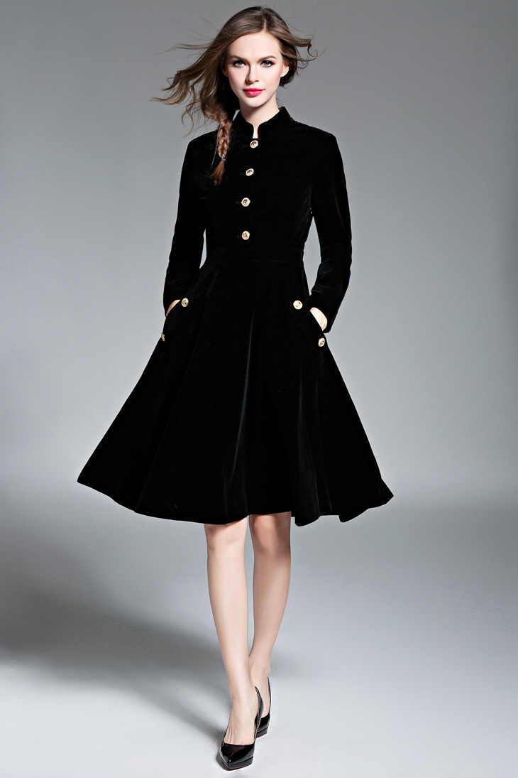 Женское платье, горячая распродажа, бесплатная доставка, Европа и Америка, Новинка осени 2019, мягкое, удобное, теплое, темпераментное, тонкое, бархатное
